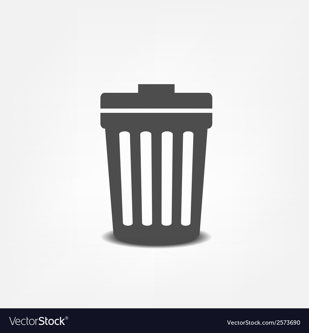 Trash can flat icon vector | Price: 1 Credit (USD $1)
