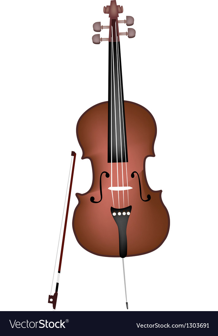 A beautiful brown cello on white background vector | Price: 1 Credit (USD $1)