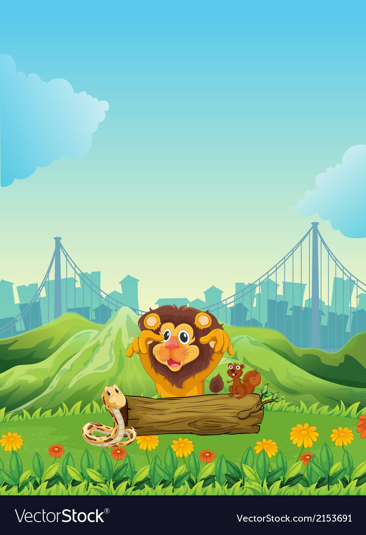 A snake a lion and a beaver vector | Price: 3 Credit (USD $3)