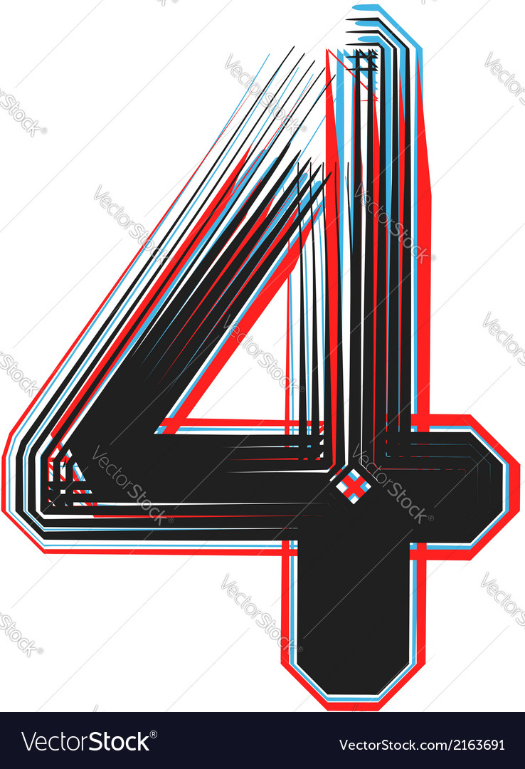 Abstract font number 4 vector | Price: 1 Credit (USD $1)