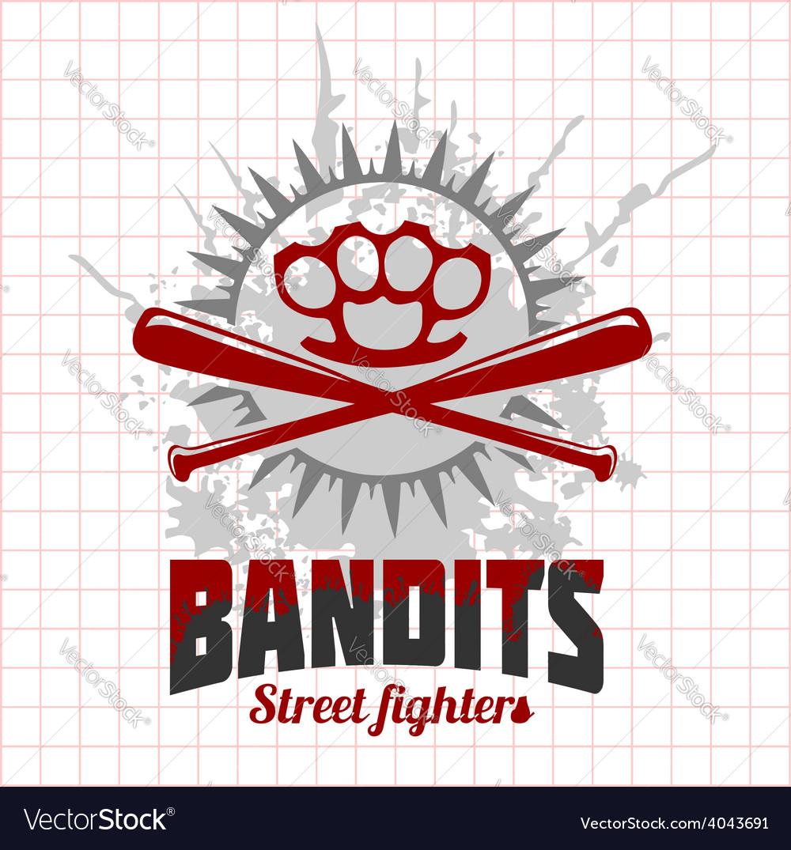 Bandits and hooligans - emblem of criminal vector | Price: 3 Credit (USD $3)