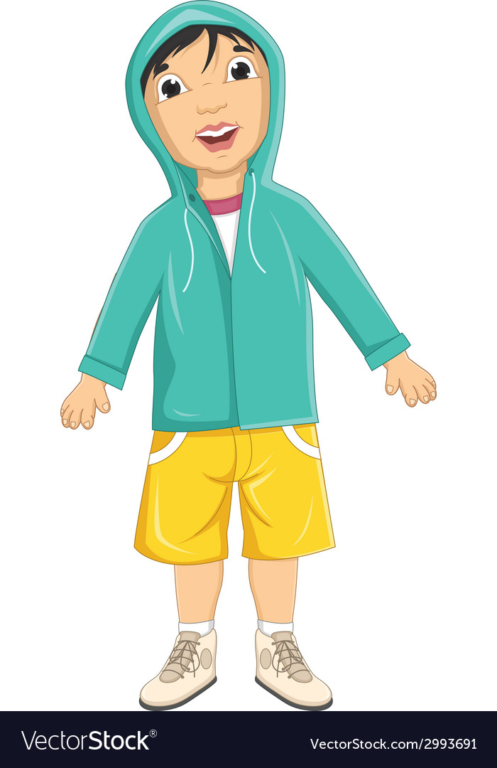 Boy wear jacket vector   Price: 1 Credit (USD $1)