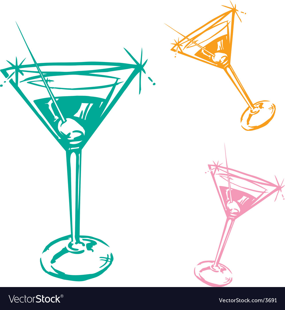 Cocktail glass vector | Price: 1 Credit (USD $1)