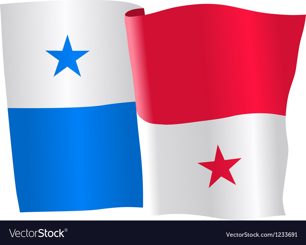 Flag of panama vector | Price: 1 Credit (USD $1)