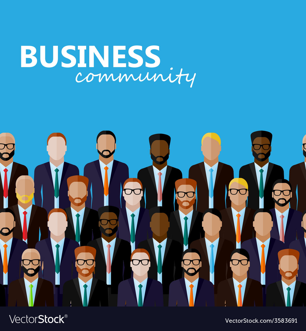 Flat of business or politics community a large vector | Price: 1 Credit (USD $1)