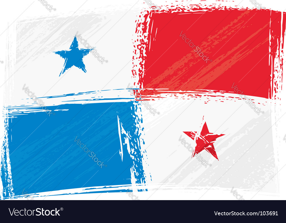 Grunge panama flag vector | Price: 1 Credit (USD $1)