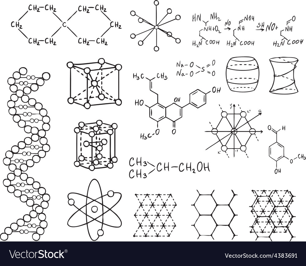 Physics and chemistry set vector | Price: 1 Credit (USD $1)