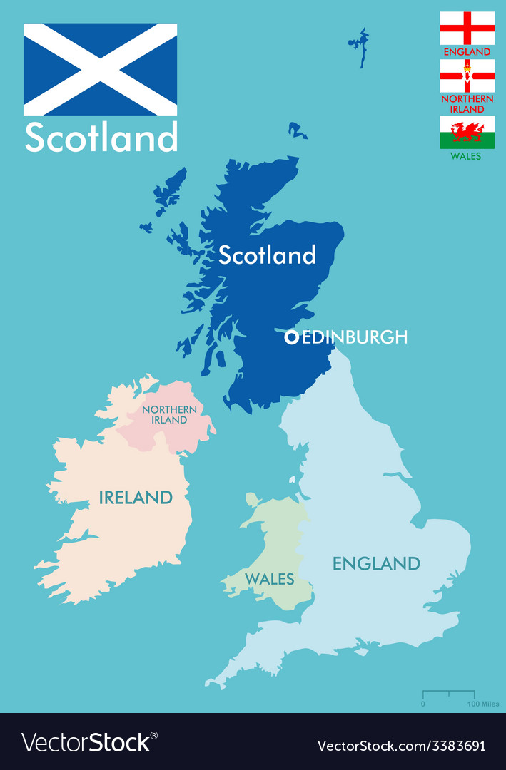 Scotland map vector | Price: 1 Credit (USD $1)