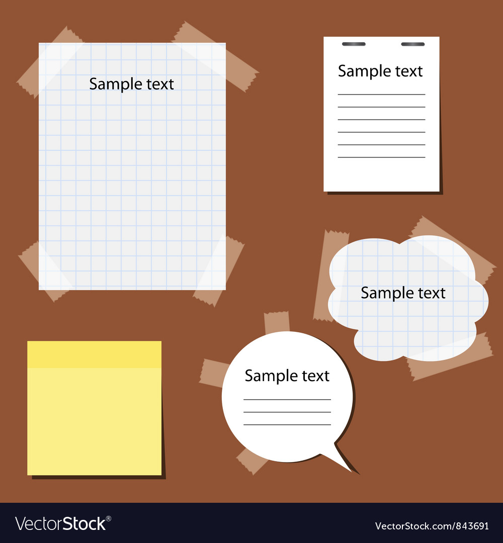 Set of paper stickers vector | Price: 1 Credit (USD $1)