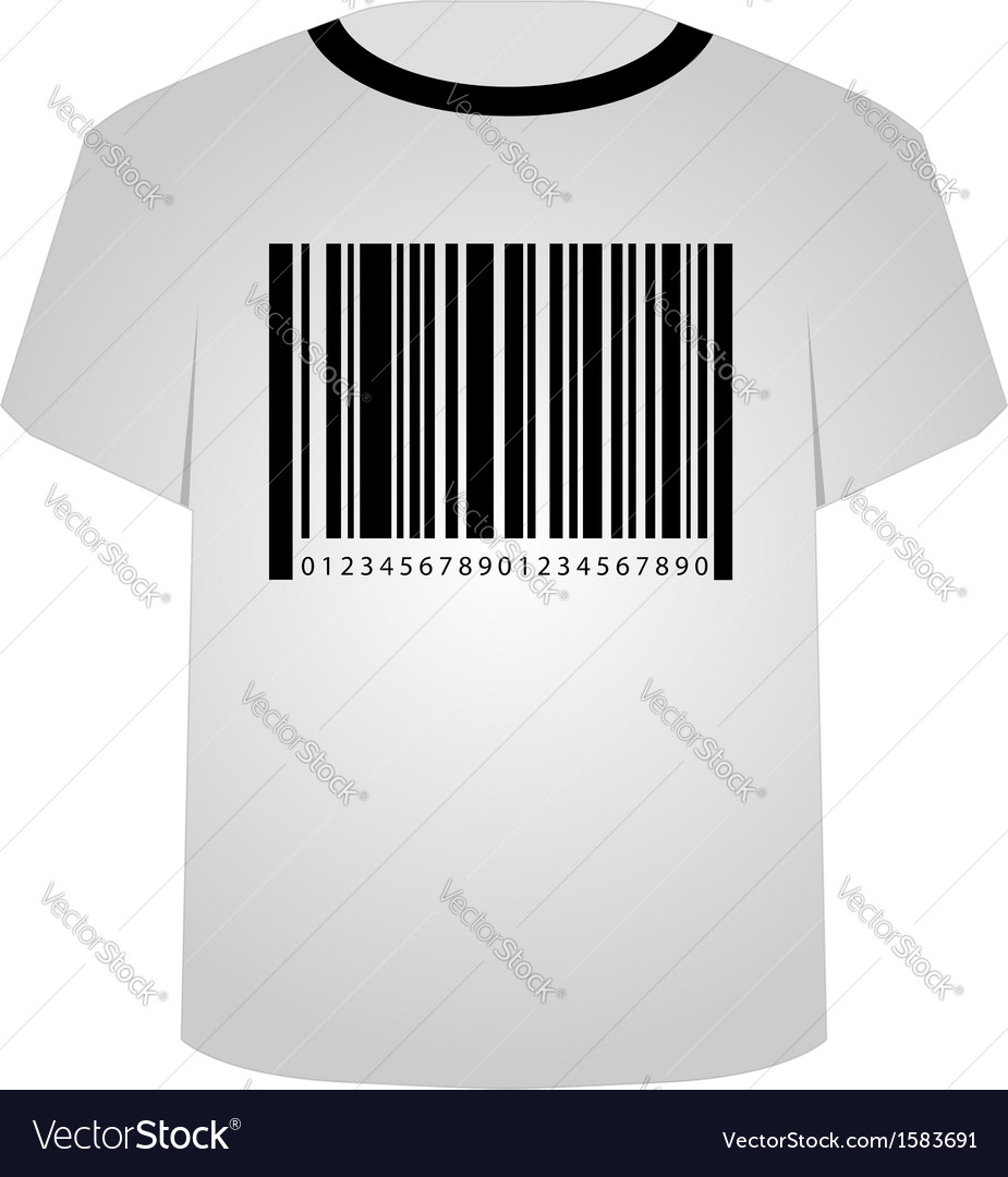 T shirt template- sale bar code vector | Price: 1 Credit (USD $1)