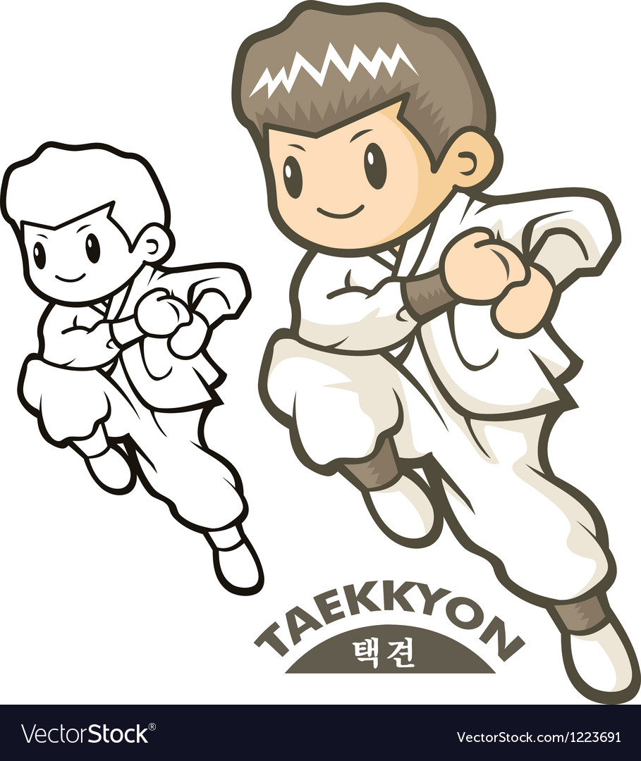 Taekkyeon is a form of korean martial art vector | Price: 3 Credit (USD $3)