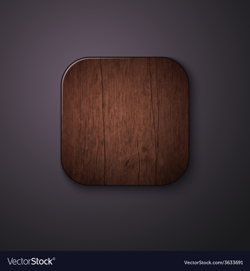 Wooden texture icon stylized like mobile app vector | Price: 1 Credit (USD $1)