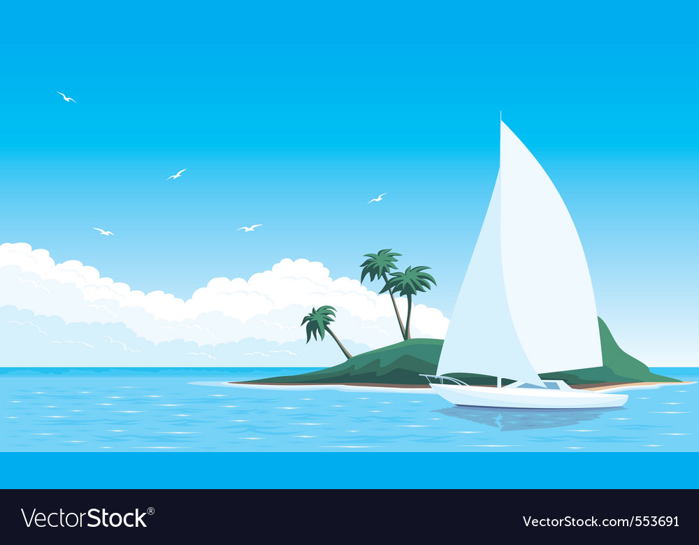 Yacht vector | Price: 3 Credit (USD $3)
