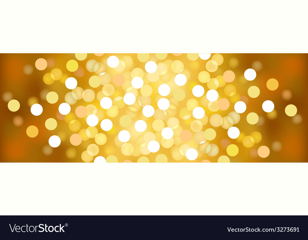 Yellow sunny festive lights background vector | Price: 1 Credit (USD $1)