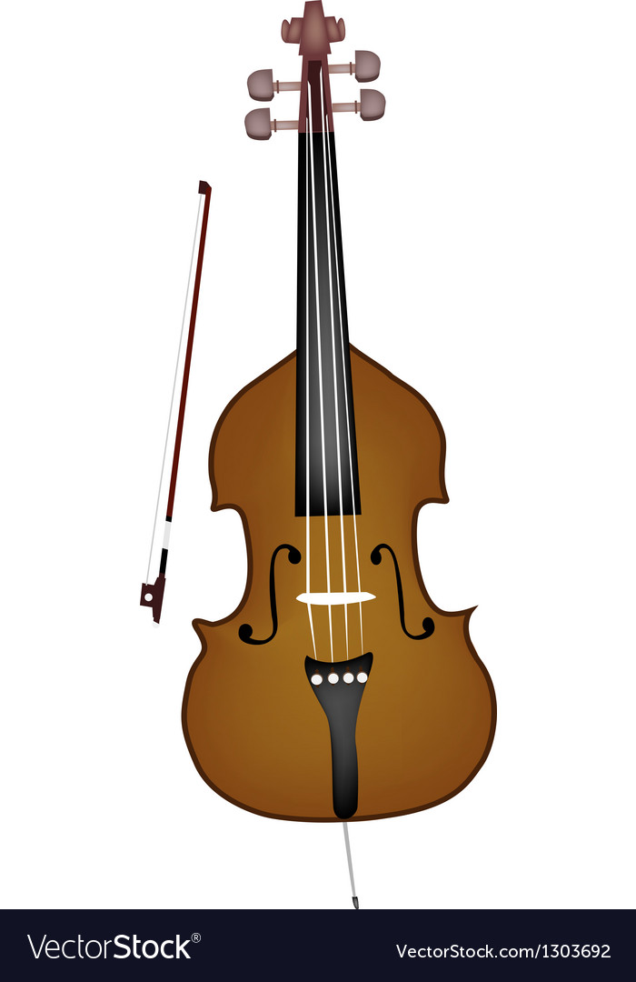 A beautiful double bass on white background vector | Price: 1 Credit (USD $1)