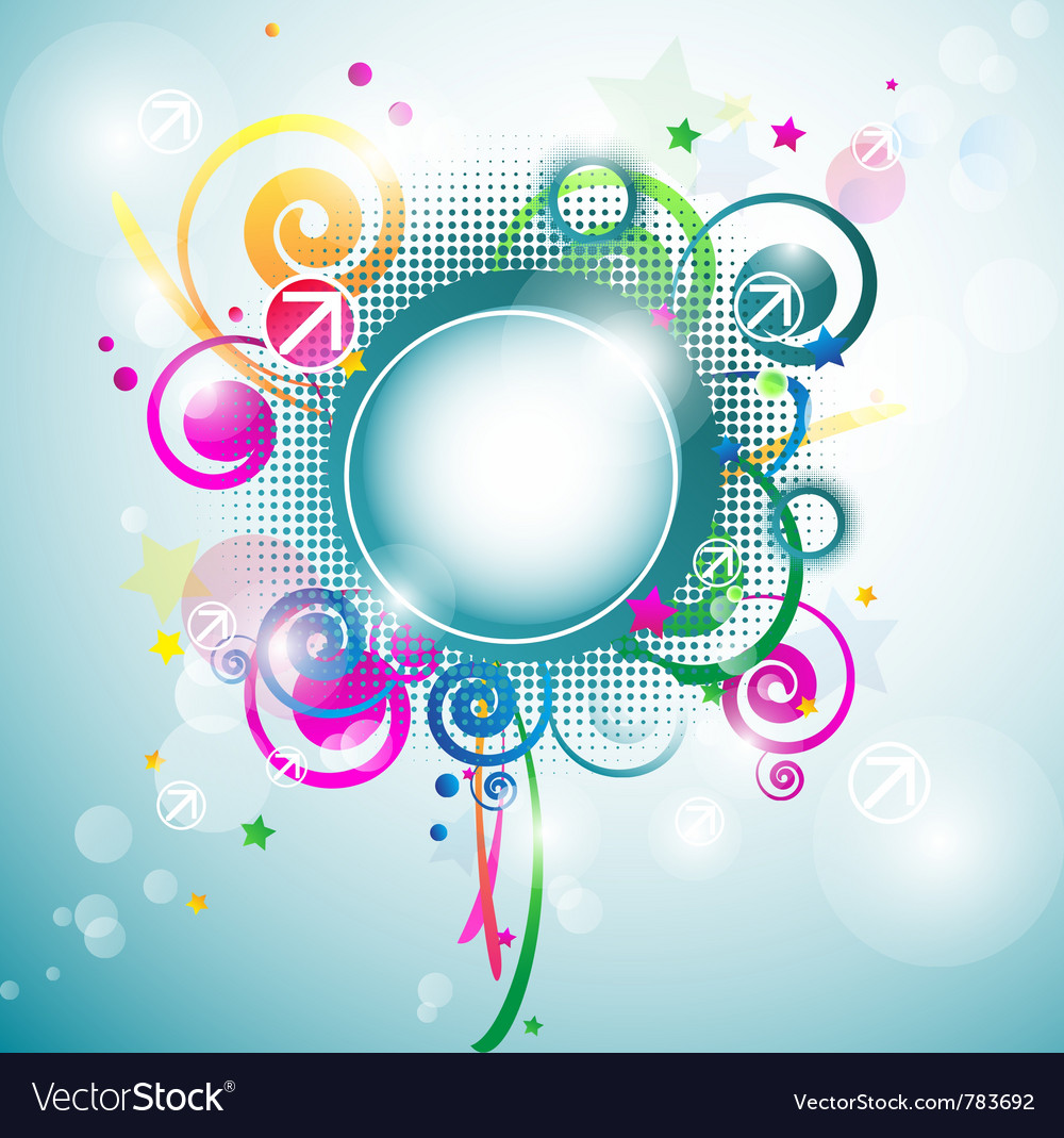 Abstract frame background vector | Price: 1 Credit (USD $1)