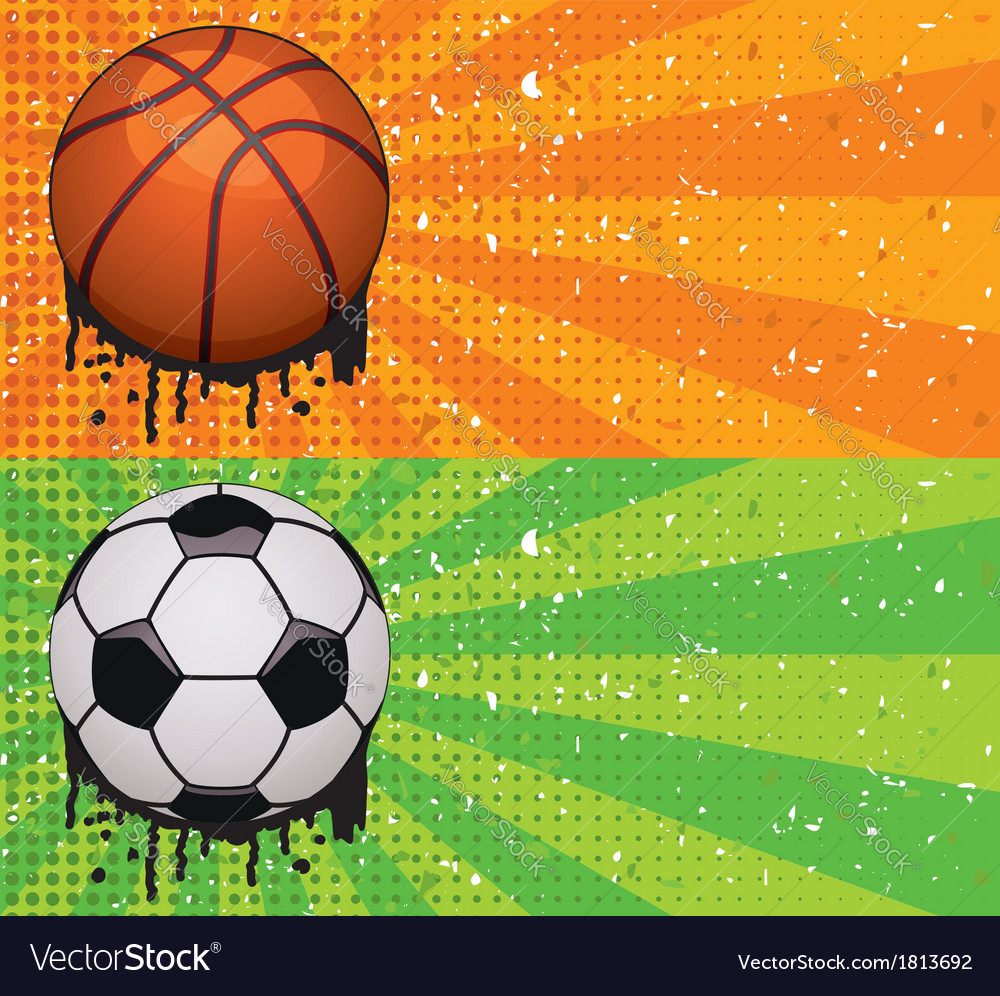 Basketball and soccer backgrounds vector | Price: 1 Credit (USD $1)