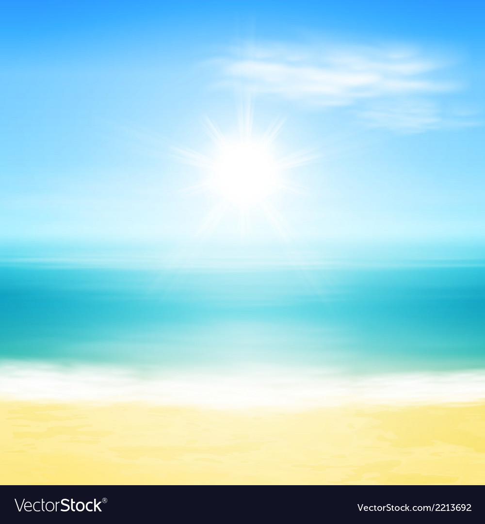 Beach and tropical sea vector | Price: 1 Credit (USD $1)