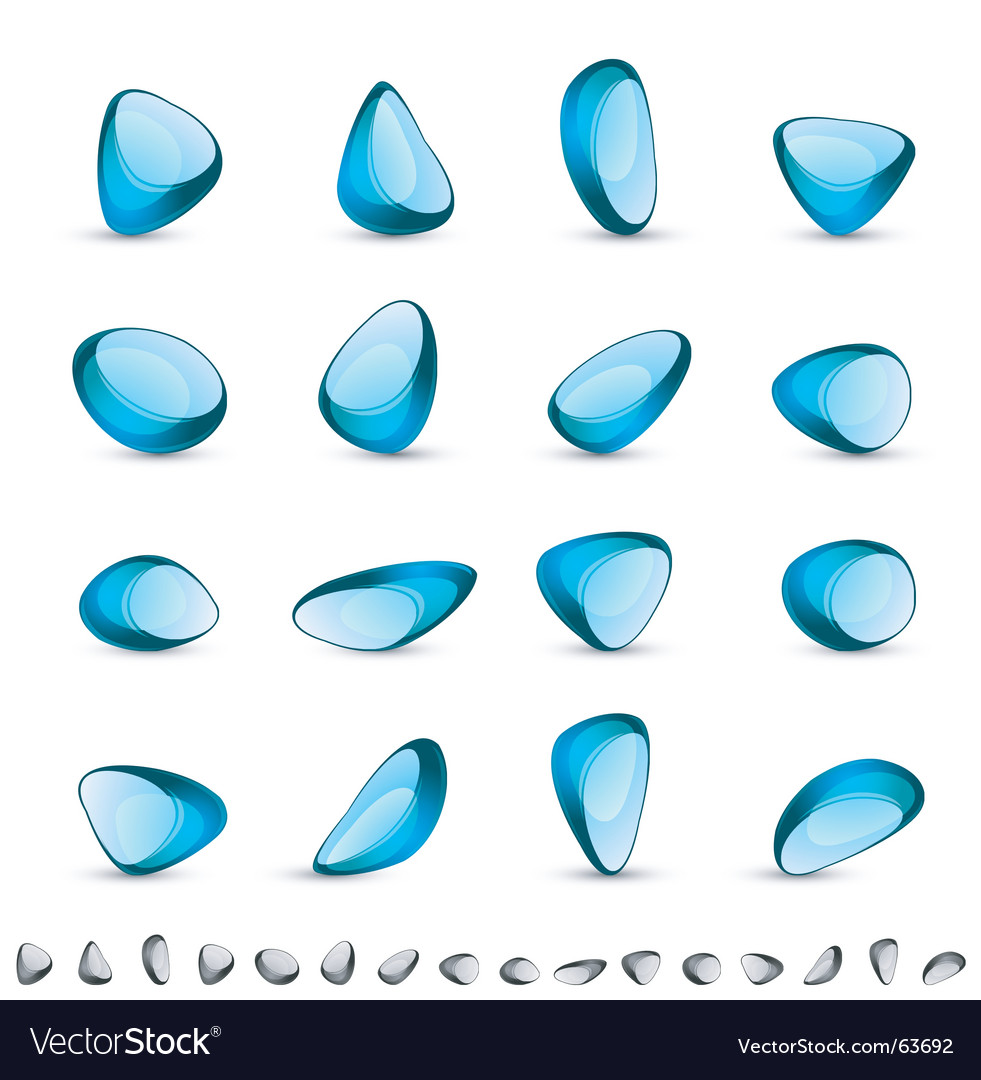 Blue gem vector | Price: 1 Credit (USD $1)