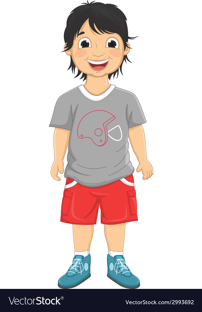 Boy smiling vector | Price: 1 Credit (USD $1)