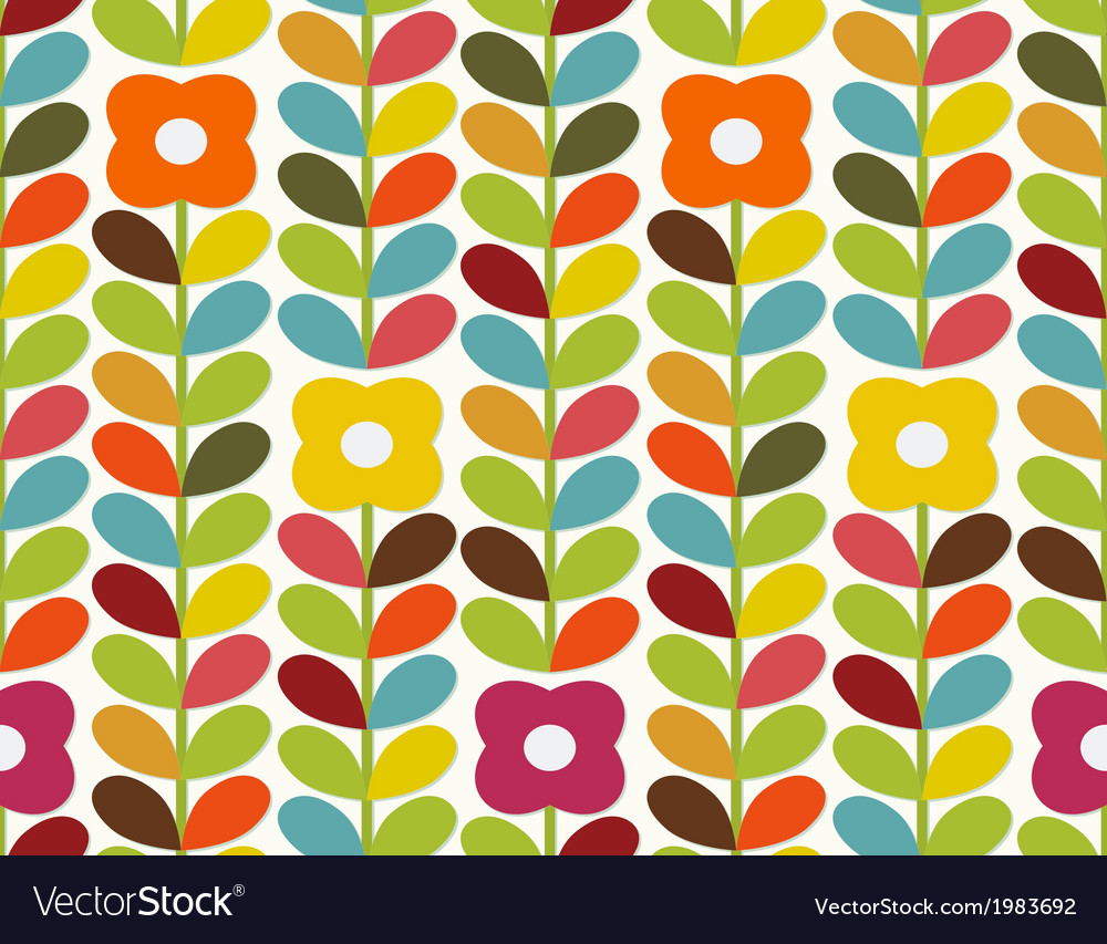 Bright flowers pattern vector | Price: 1 Credit (USD $1)