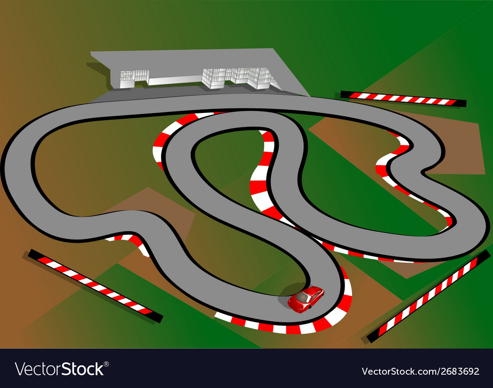 Car test track vector | Price: 1 Credit (USD $1)