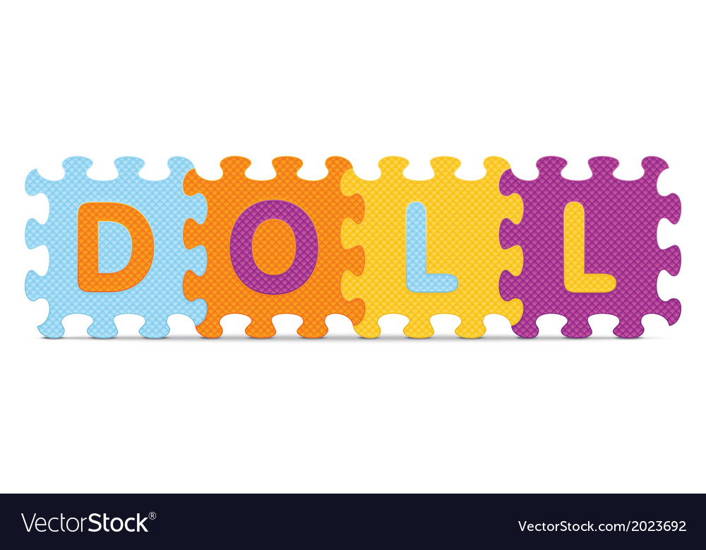 Doll written with alphabet puzzle vector | Price: 1 Credit (USD $1)