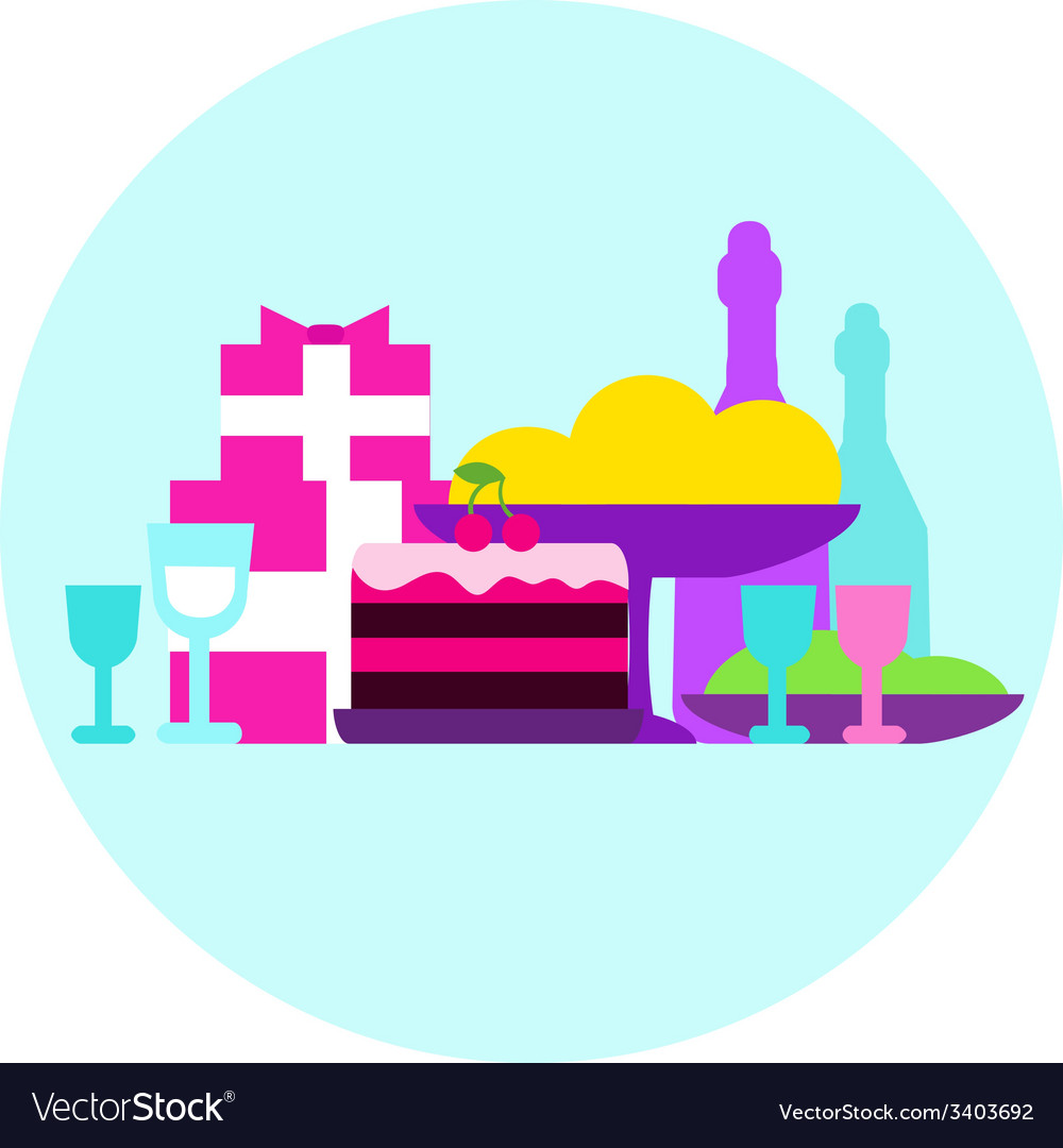 Gala dinner gift holiday food vector | Price: 1 Credit (USD $1)