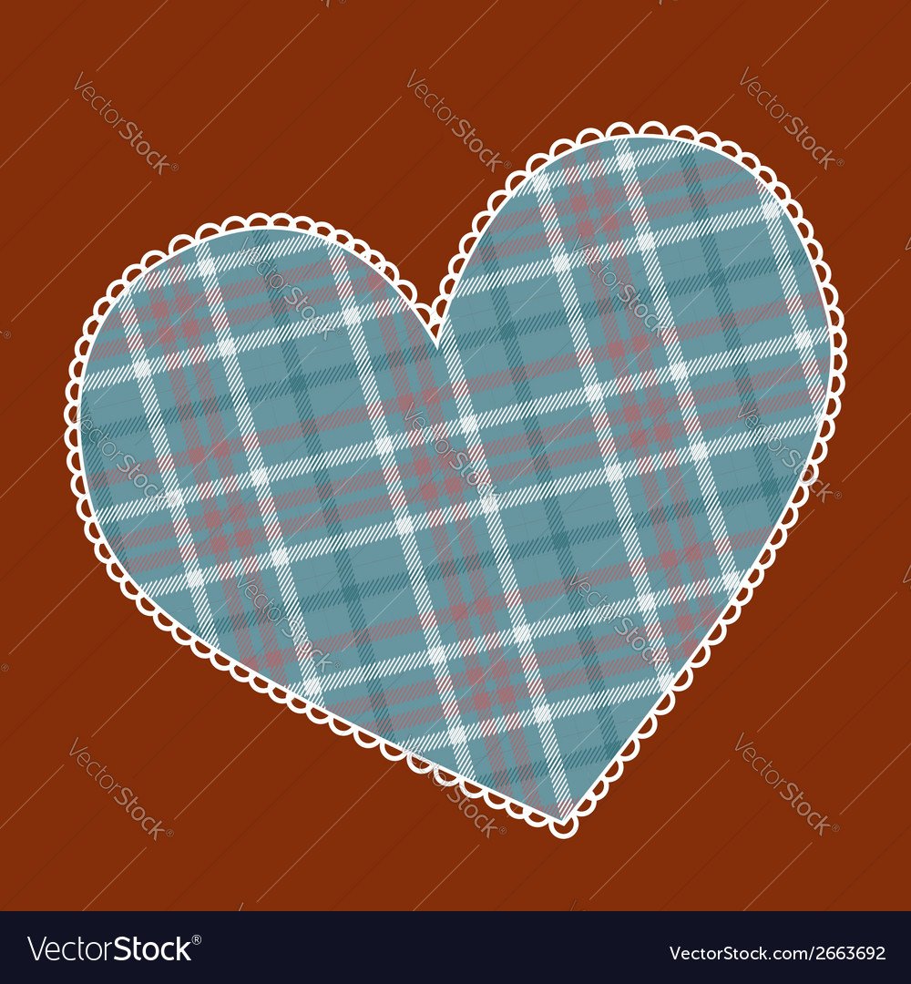Heart made of plaid fabric vector | Price: 1 Credit (USD $1)
