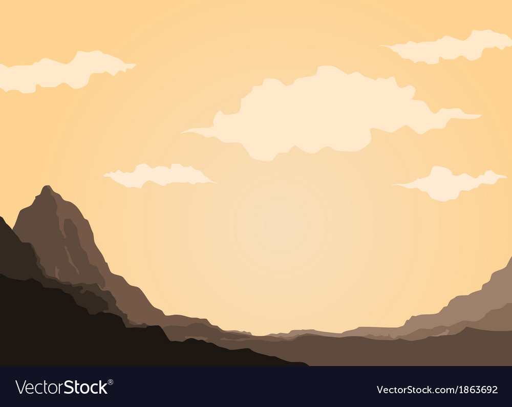 Mountain of rock vector | Price: 1 Credit (USD $1)