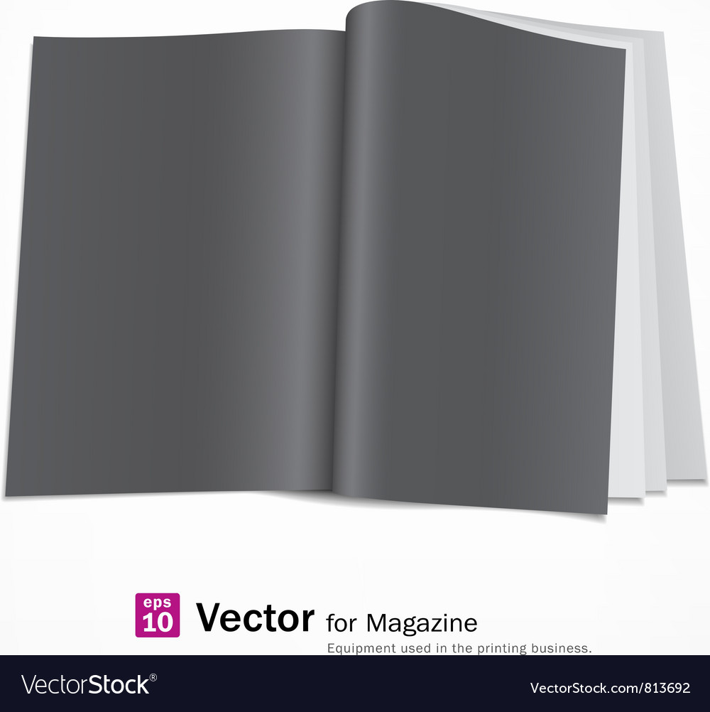 Open black page magazine vector | Price: 1 Credit (USD $1)