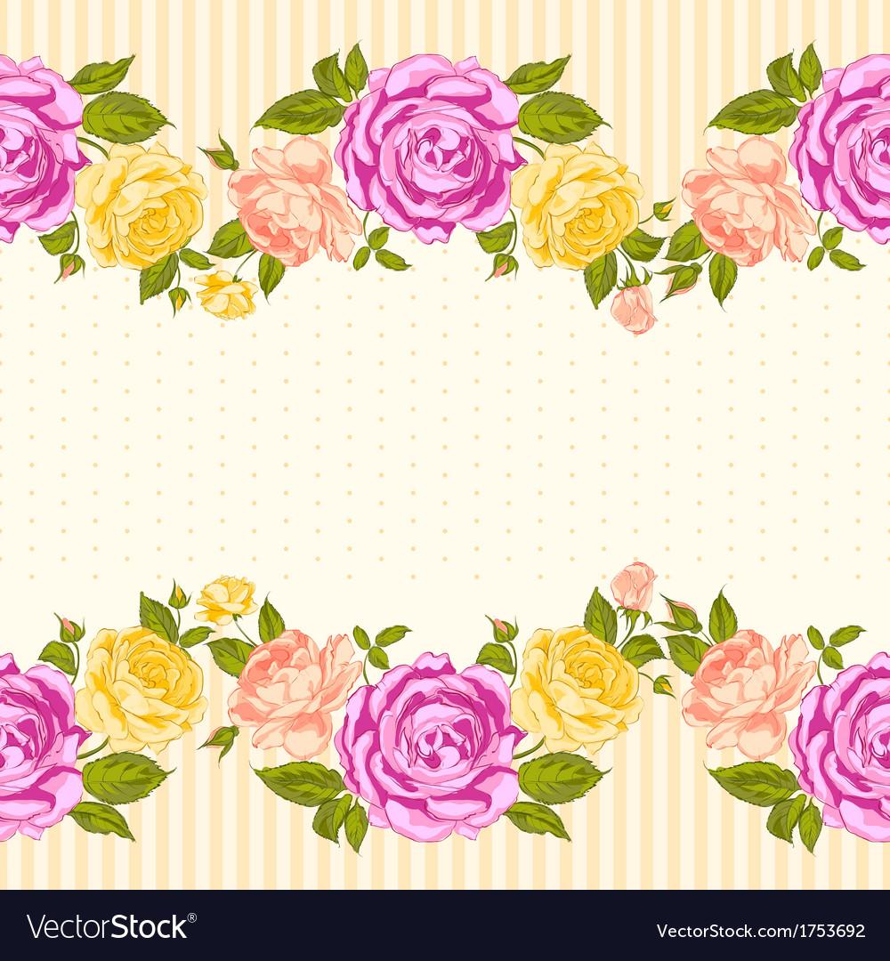 Rose frame invitation card vector   Price: 1 Credit (USD $1)
