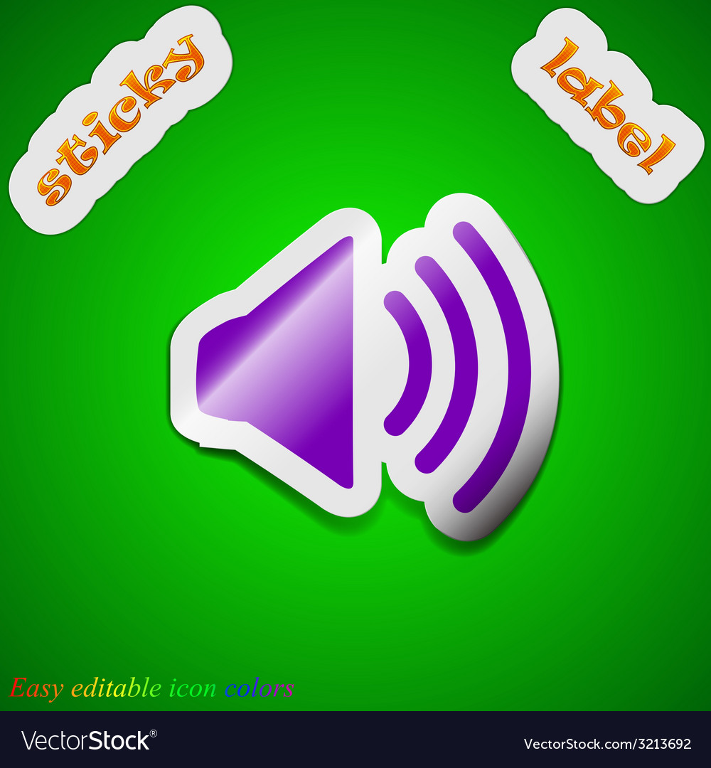 Speaker volume icon sign symbol chic colored vector | Price: 1 Credit (USD $1)