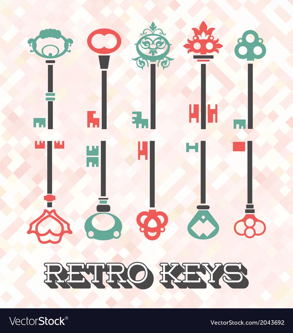 Vintage keys vector | Price: 1 Credit (USD $1)