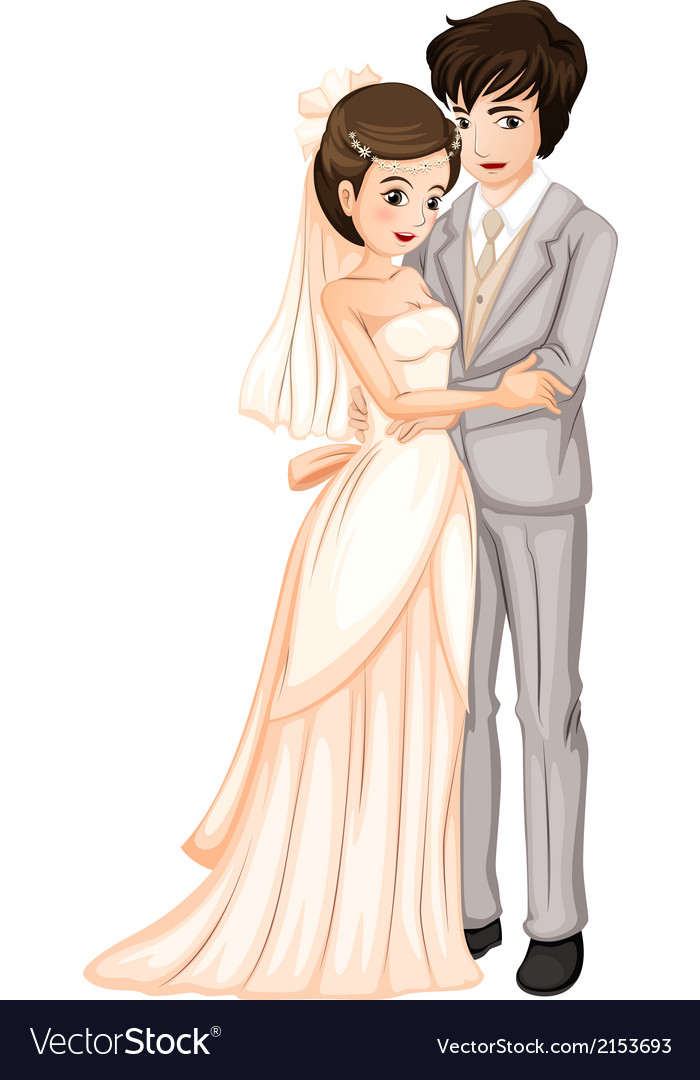 A newly-wed couple vector | Price: 1 Credit (USD $1)