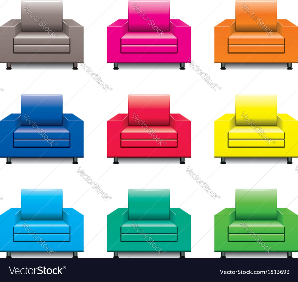 Armchair set vector | Price: 1 Credit (USD $1)