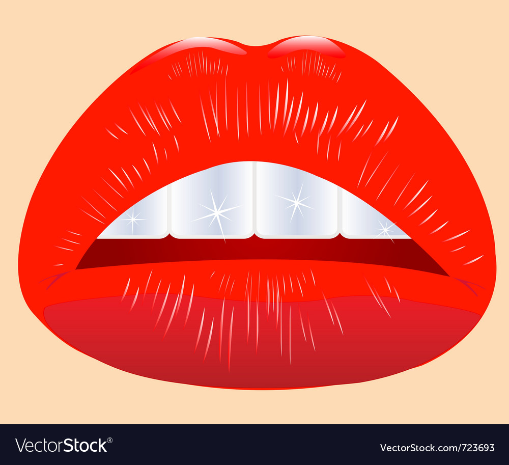 Beautiful feminine lips vector | Price: 1 Credit (USD $1)