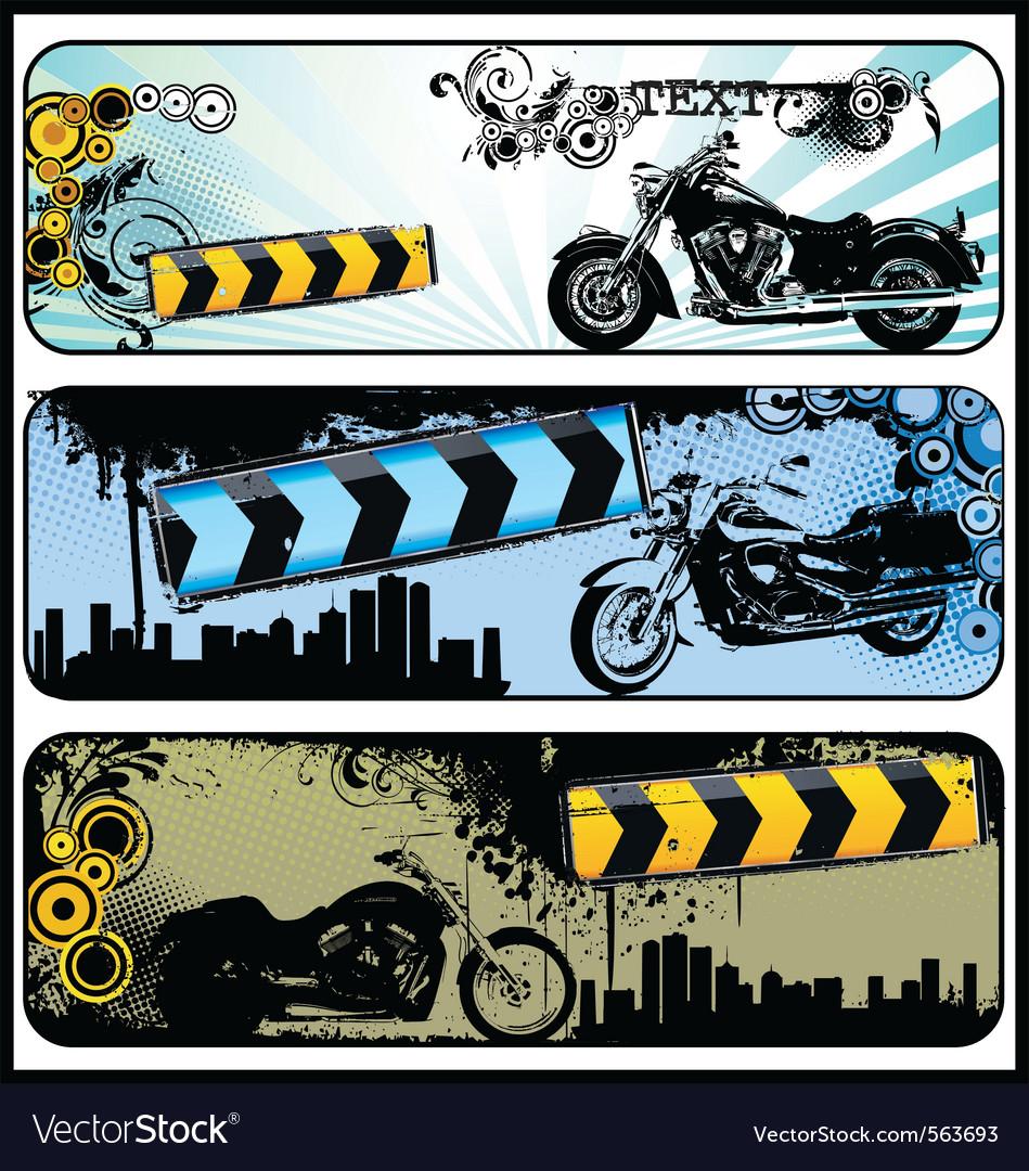 Biker grunge banners vector | Price: 1 Credit (USD $1)