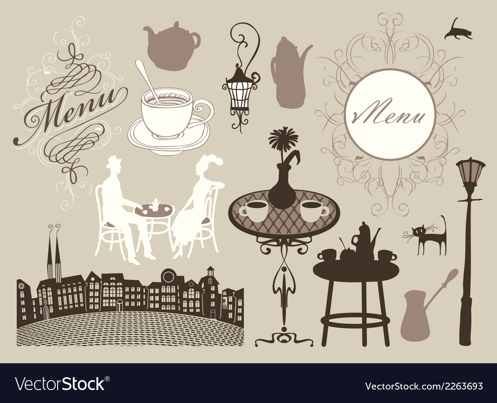 Cafes and restaurants vector | Price: 1 Credit (USD $1)