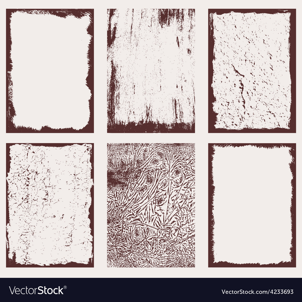 Grunge frames textures 2 vector | Price: 1 Credit (USD $1)