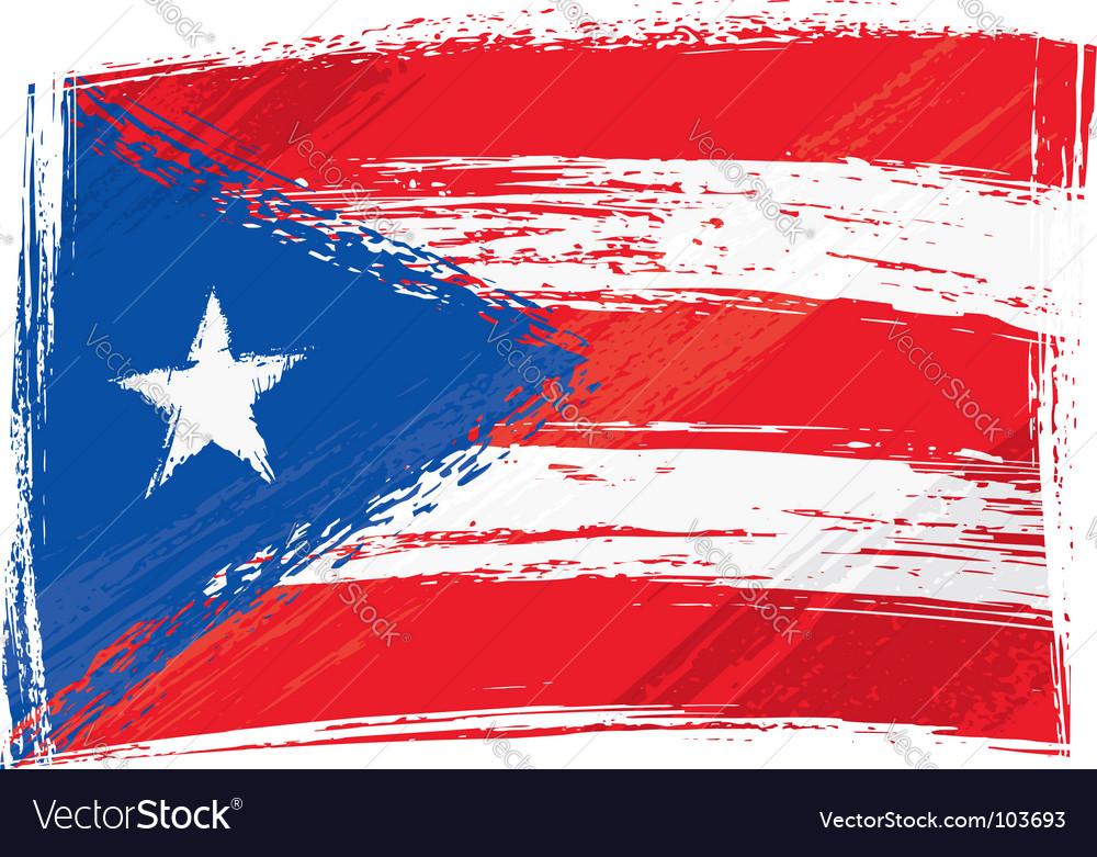 Grunge puerto rico flag vector | Price: 1 Credit (USD $1)
