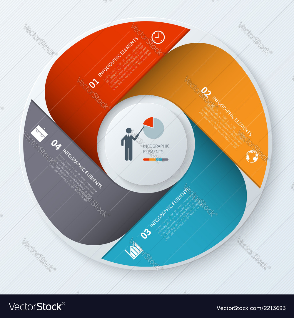 Modern business infographics circle vector | Price: 1 Credit (USD $1)