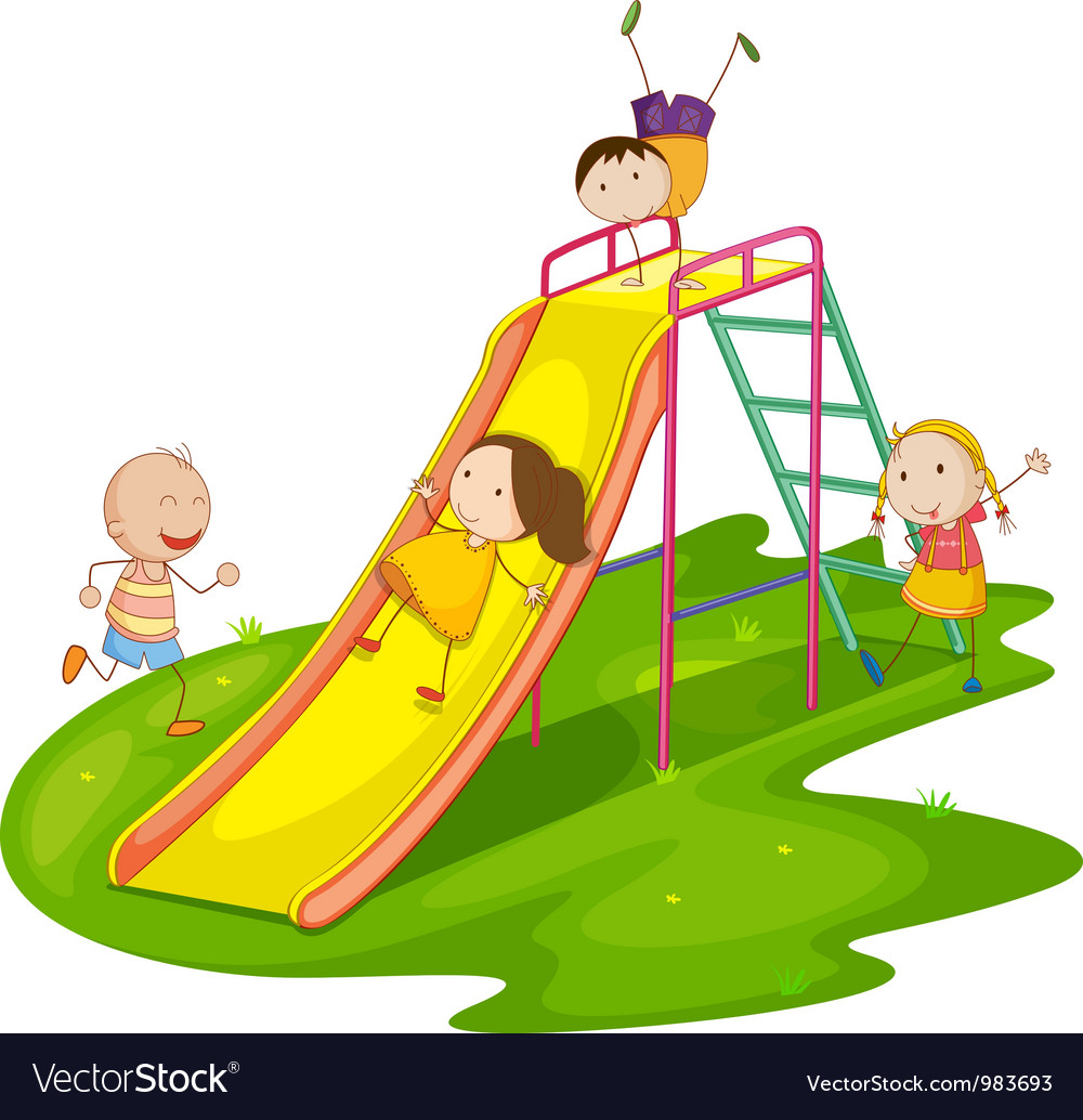 Playground slide vector | Price: 3 Credit (USD $3)