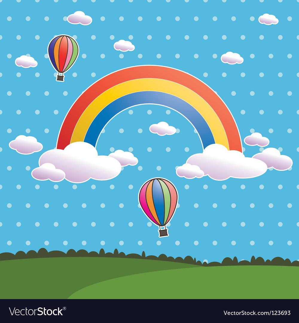 Polka dot rainbow vector | Price: 1 Credit (USD $1)