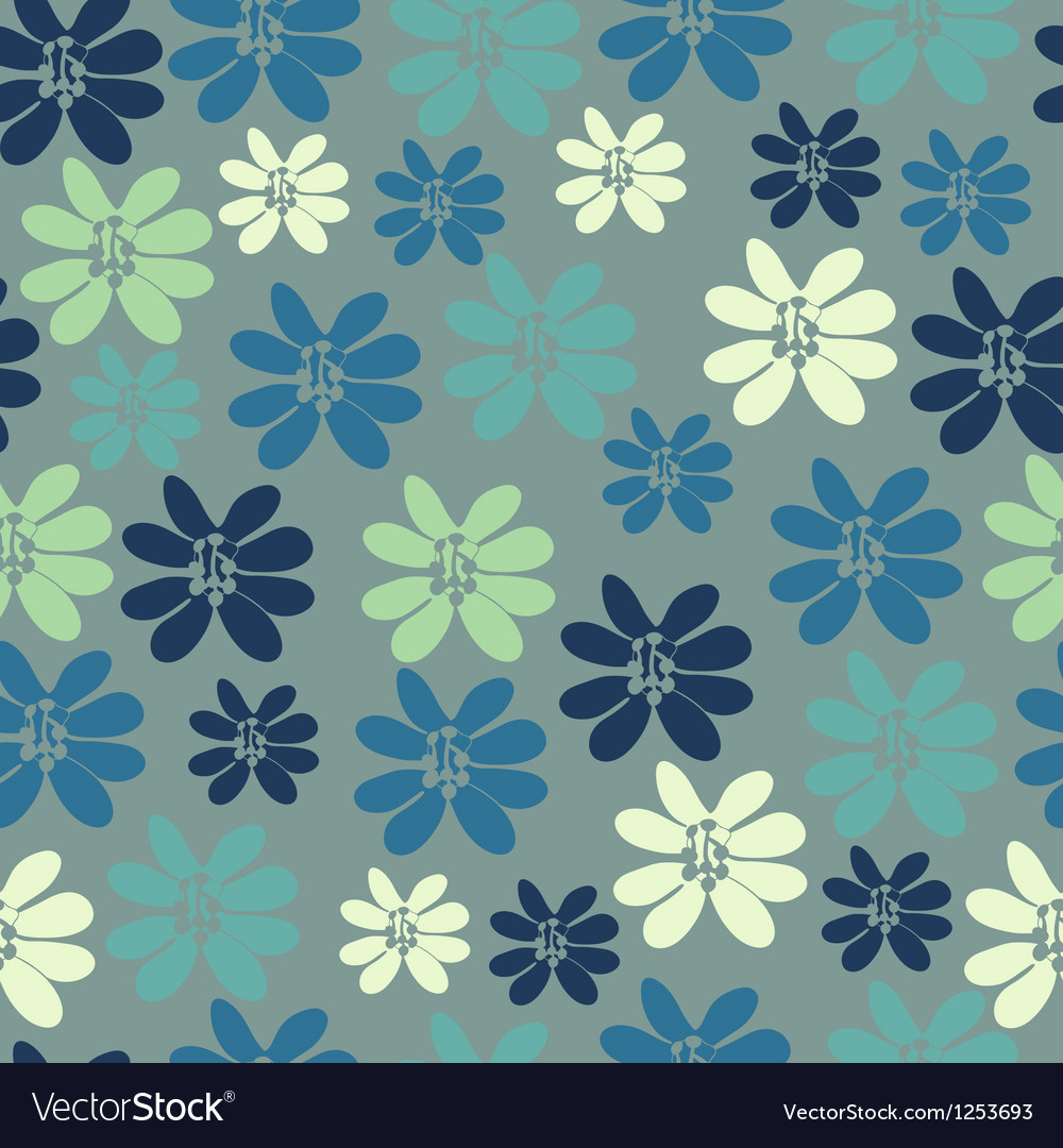 Seamless background with small flowers vector | Price: 1 Credit (USD $1)
