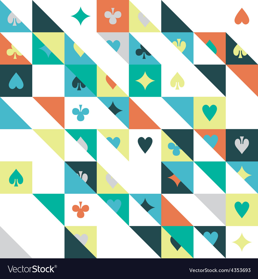 Seamless texture playing cards vector | Price: 1 Credit (USD $1)