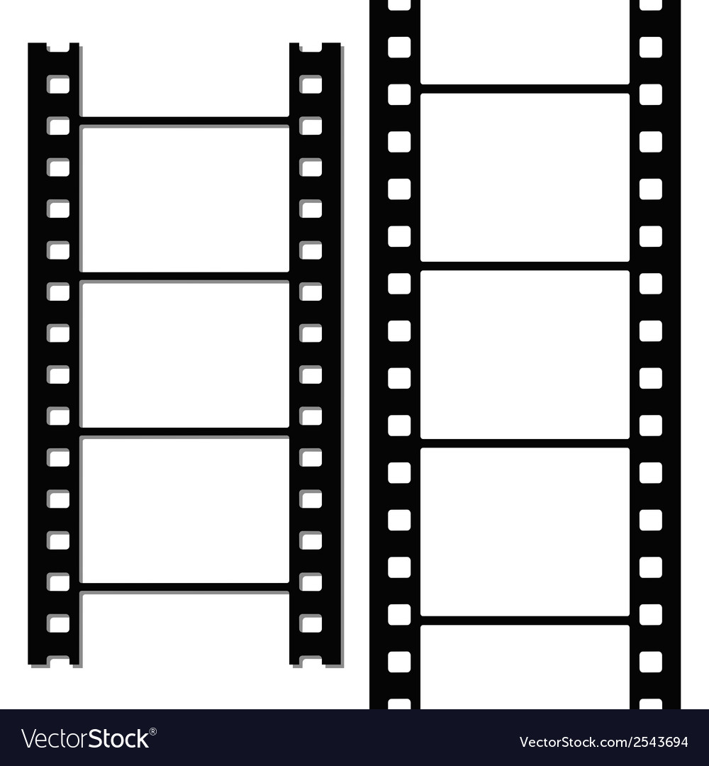 Blank simple film strip set vector | Price: 1 Credit (USD $1)
