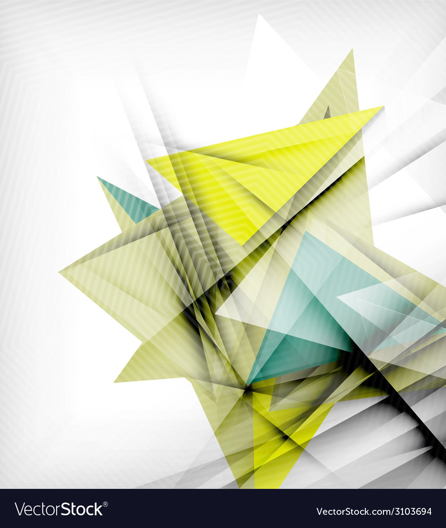 Color triangles unusual abstract background vector   Price: 1 Credit (USD $1)