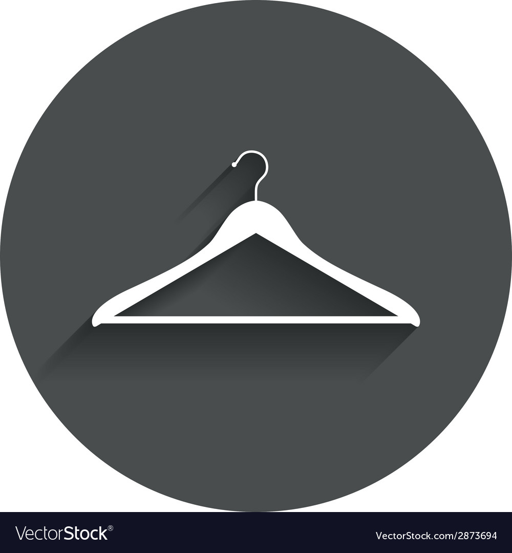Hanger sign icon cloakroom symbol vector   Price: 1 Credit (USD $1)