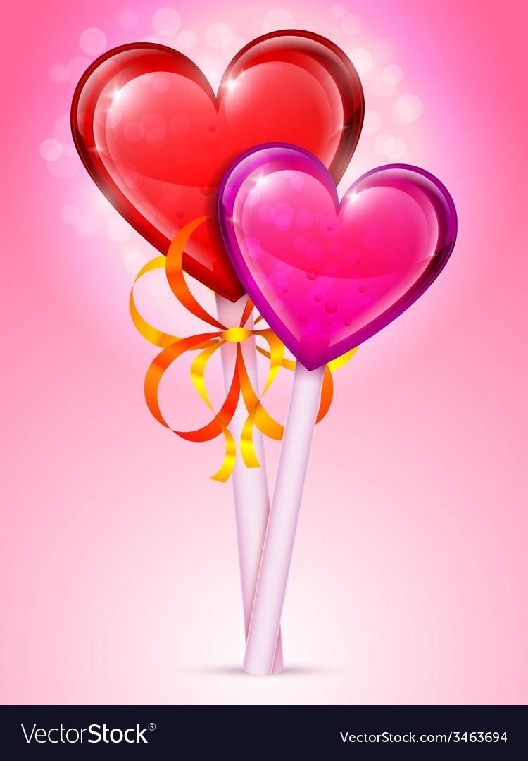 Heart lollipops vector | Price: 3 Credit (USD $3)